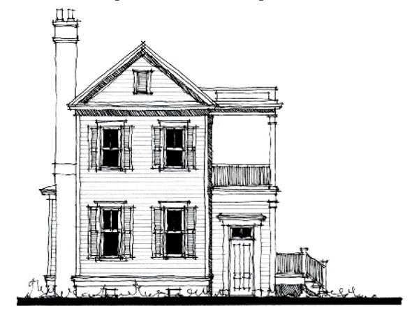 Country Historic Elevation of Plan 73845