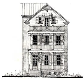 Country Historic House Plan 73847 Elevation