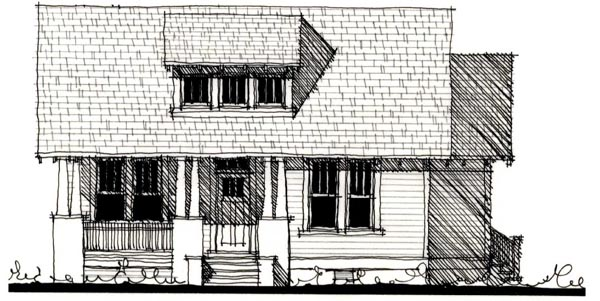 Country Historic House Plan 73848 Elevation