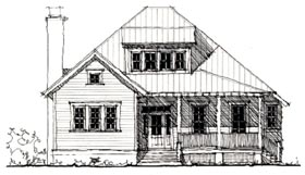 Country , Historic House Plan 73849 with 3 Beds, 3 Baths Elevation