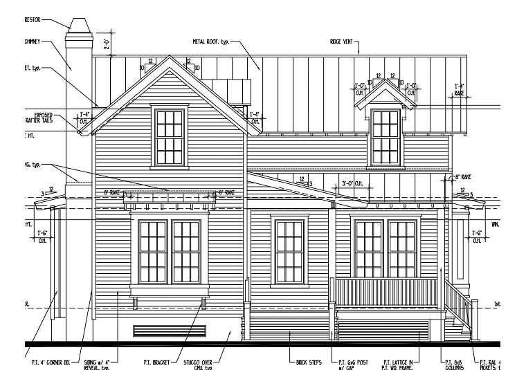 Country Historic House Plan 73850 Elevation