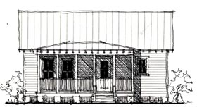 House Plan 73851 | Country Historic Style Plan with 521 Sq Ft, 1 Bed, 1 Bath Elevation