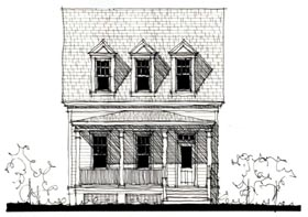 Country Historic House Plan 73852 Elevation