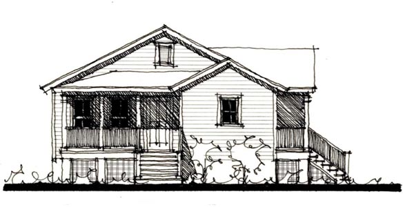 Country, Historic House Plan 73853 with 4 Beds, 2 Baths Elevation