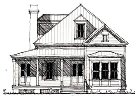 Country Historic House Plan 73855 Elevation