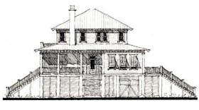 Country Historic House Plan 73856 Elevation