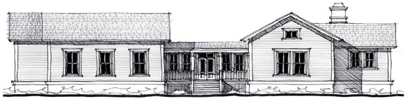 House Plan 73858 | Country Historic Style Plan with 2492 Sq Ft, 3 Bedrooms, 3 Bathrooms Elevation