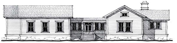 Country Historic House Plan 73858 Elevation