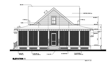 Country , Historic House Plan 73859 with 3 Beds, 4 Baths Rear Elevation