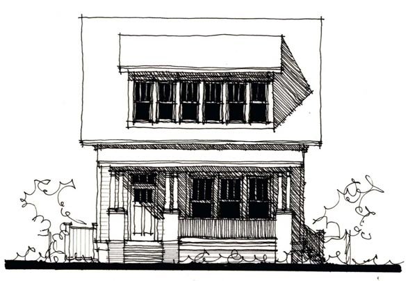 Country Historic Elevation of Plan 73860