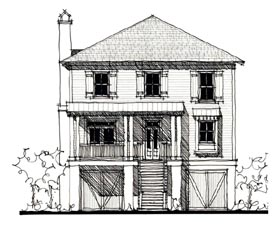 Historic , Country House Plan 73861 with 4 Beds, 3 Baths Elevation