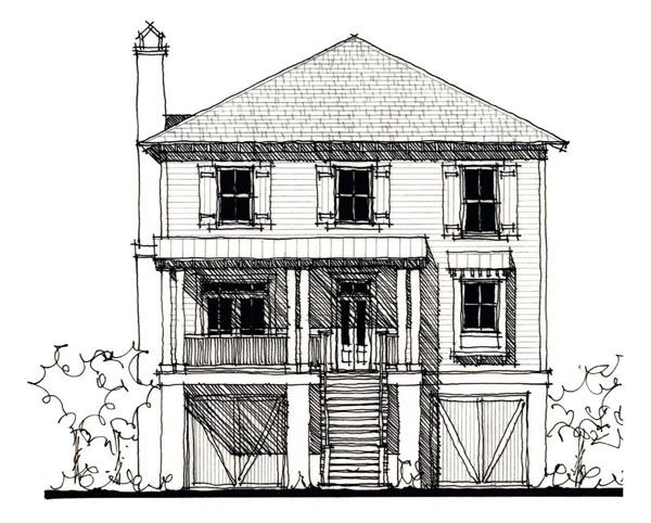 Country Historic House Plan 73861 Elevation