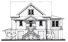 Country Historic House Plan 73862 Elevation