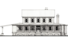 Country , Historic House Plan 73863 with 4 Beds, 5 Baths Elevation