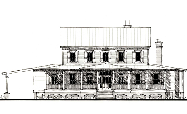 Country Historic House Plan 73863 Elevation