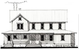 Country Historic House Plan 73864 Elevation