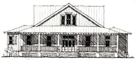 Country Historic House Plan 73867 Elevation