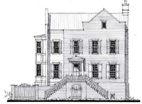 Country , Historic House Plan 73868 with 5 Beds, 5 Baths, 2 Car Garage Elevation