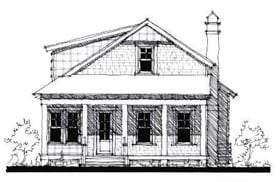 Country Historic House Plan 73870 Elevation