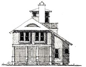 House Plan 73873 | Country Historic Style Plan with 2842 Sq Ft, 4 Bed, 5 Bath Elevation