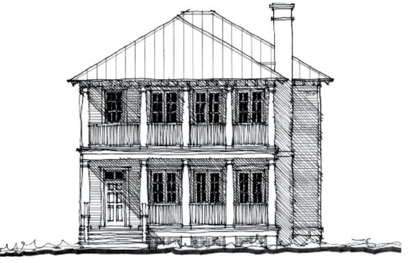 Country, Historic House Plan 73874 with 4 Beds, 3 Baths Elevation
