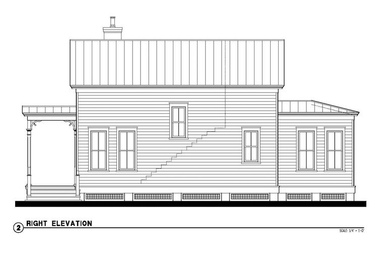 Country, Historic House Plan 73875 with 2 Beds, 2 Baths Picture 2