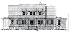 Country Historic House Plan 73876 Elevation