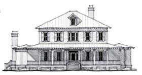 Country , Historic House Plan 73877 with 5 Beds, 5 Baths Elevation