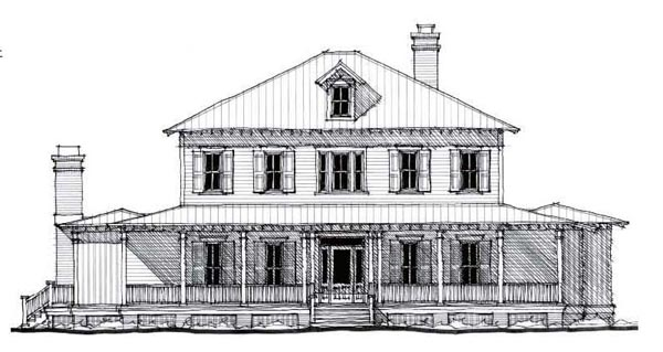 Historic , Country House Plan 73877 with 5 Beds, 5 Baths Elevation