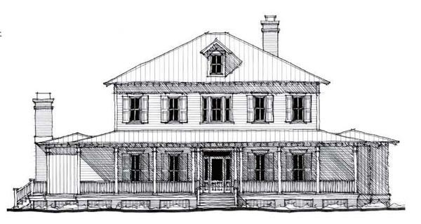Country, Historic House Plan 73877 with 5 Beds, 5 Baths Elevation