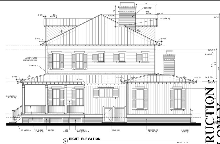 Country Historic House Plan 73877