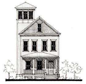 Country , Historic House Plan 73880 with 4 Beds, 4 Baths Elevation