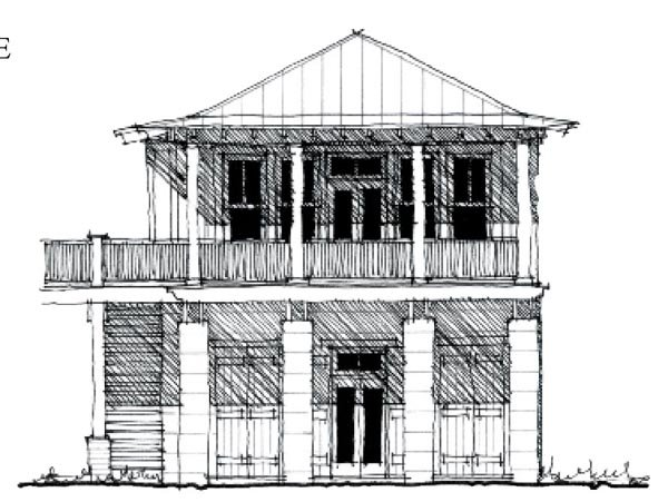 Country , Historic , Elevation of Plan 73881