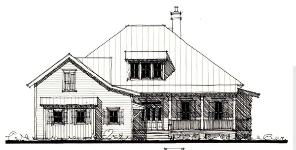 Country Historic House Plan 73884 Elevation