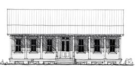 Country Historic House Plan 73886 Elevation