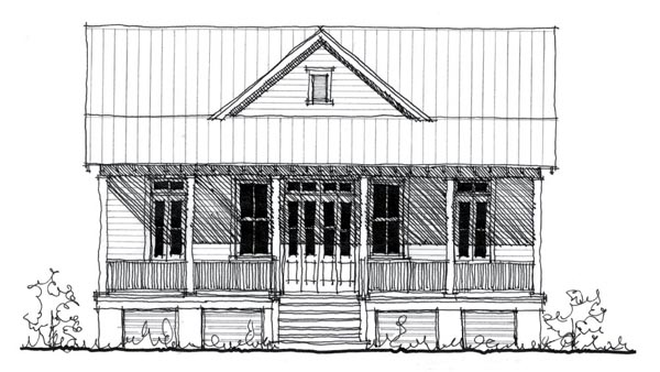 Historic , Country House Plan 73887 with 2 Beds, 2 Baths Elevation