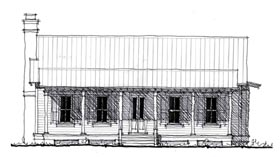 Country Historic House Plan 73888 Elevation