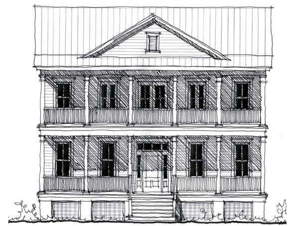 Country Historic House Plan 73889 Elevation