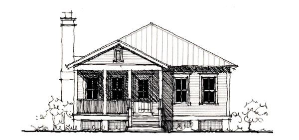 Country Historic House Plan 73891 Elevation