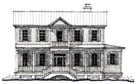 Historic , Country House Plan 73893 with 3 Beds, 4 Baths Elevation