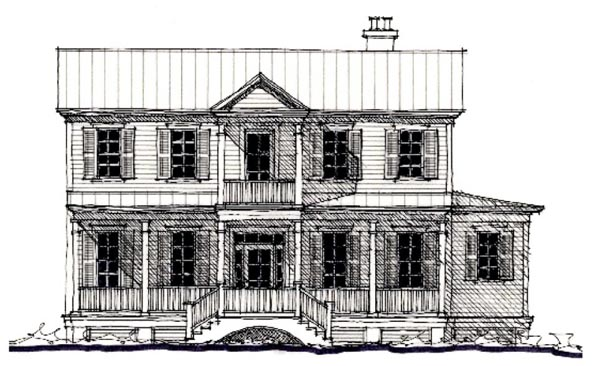 Country Historic House Plan 73893 Elevation