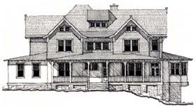 Historic , Country House Plan 73895 with 4 Beds, 4 Baths Elevation