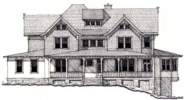 Country Historic House Plan 73895 Elevation