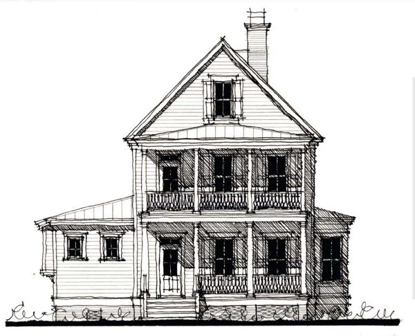 Country, Historic House Plan 73896 with 4 Beds, 5 Baths Elevation