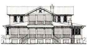 Country Historic House Plan 73897 Elevation