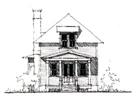Country Historic House Plan 73898 Elevation