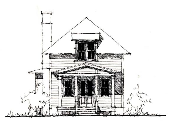 Country, Historic House Plan 73898 with 3 Beds, 3 Baths Elevation