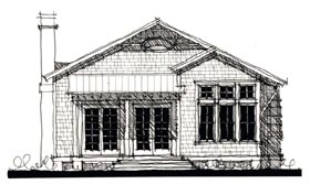 House Plan 73899 | Country Historic Style Plan with 1659 Sq Ft, 3 Bedrooms, 4 Bathrooms Elevation