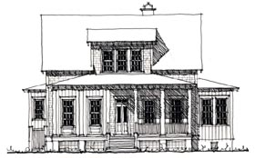 House Plan 73900   Country Historic Style Plan with 2534 Sq Ft, 4 Bedrooms, 3 Bathrooms Elevation