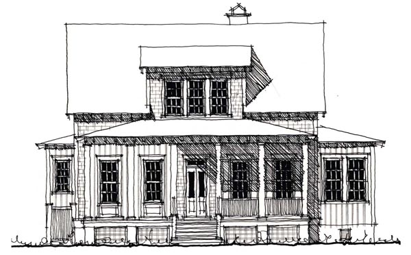 Country Historic House Plan 73900 Elevation